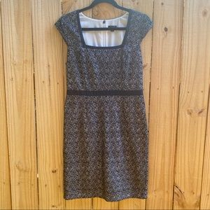Ann Taylor Lace Square Neck Fitted Career Dress 4